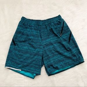 """Lululemon Surge Shorts Workout Lined 7"""" Size M"""